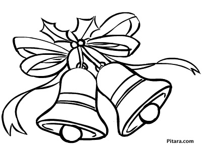 Christmas bells  Coloring page  Pitara Kids Network