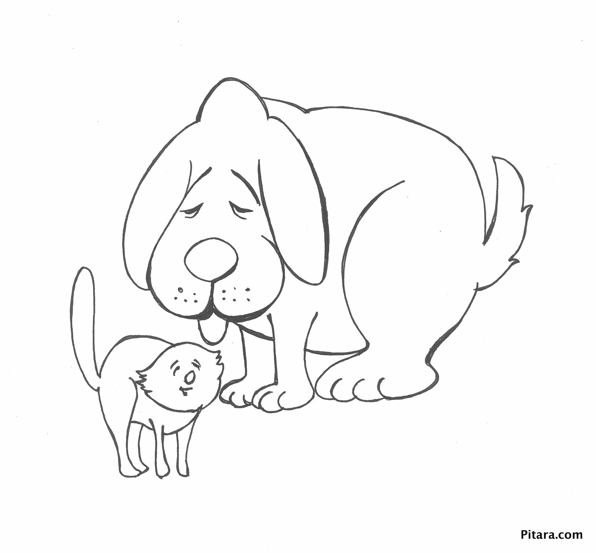 G And A Hamster Coloring Page Coloring Page - Free Dog Coloring ... | 1936x2089