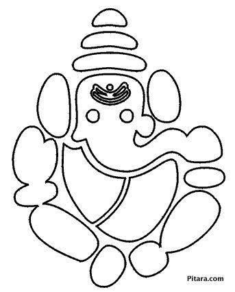 Lord ganesha coloring pages for kids pitara kids network for Ganesha coloring pages