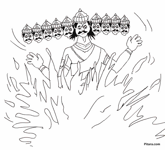 Ravana Coloring Pages