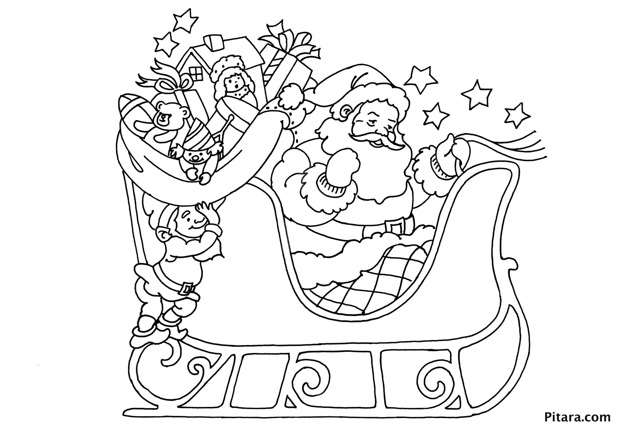 39 'Merry Christmas Coloring Pages' Printable for Adults & Kids ... | 1400x2000