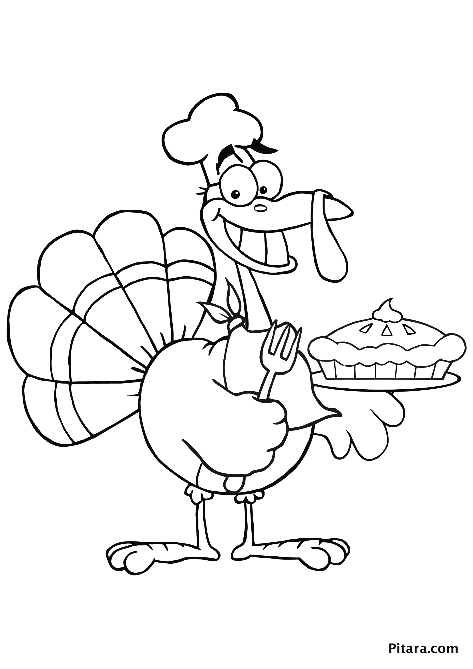 Turkey Coloring Pages for Kids | Pitara Kids' Network