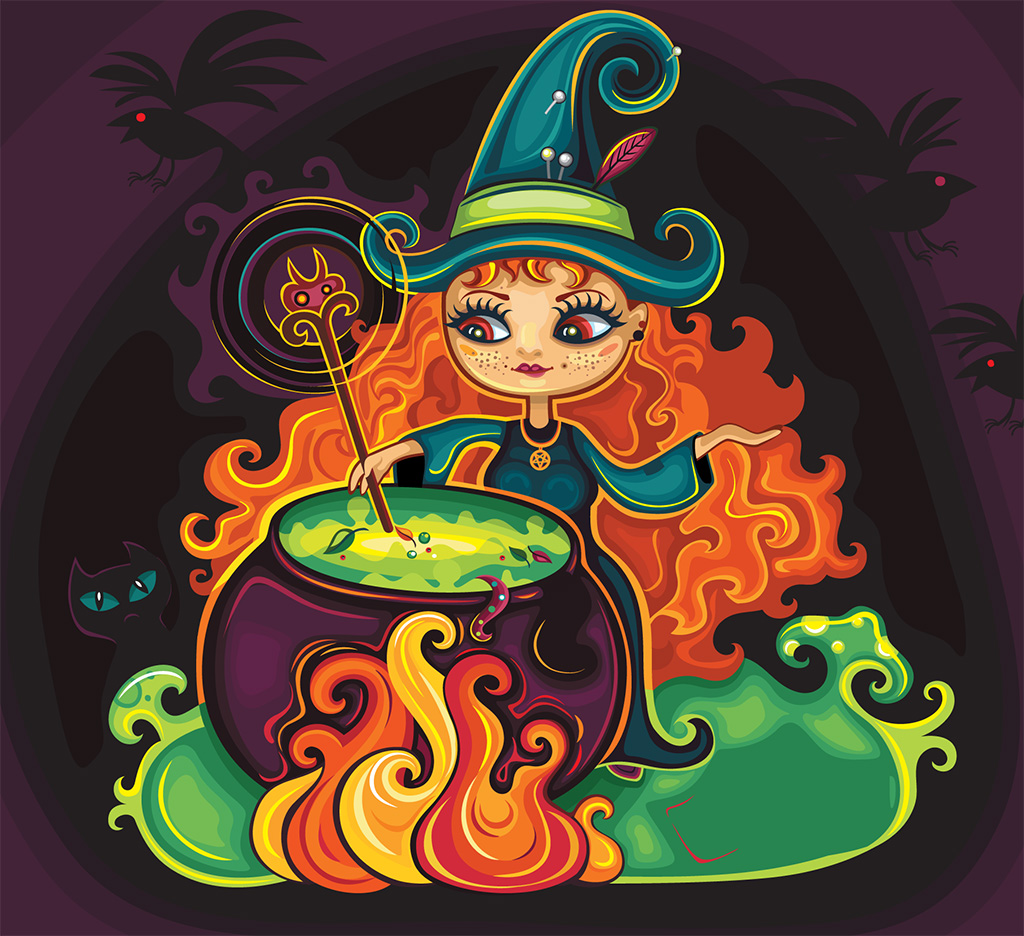 Woman and cauldron: Double it up! - A story for kids